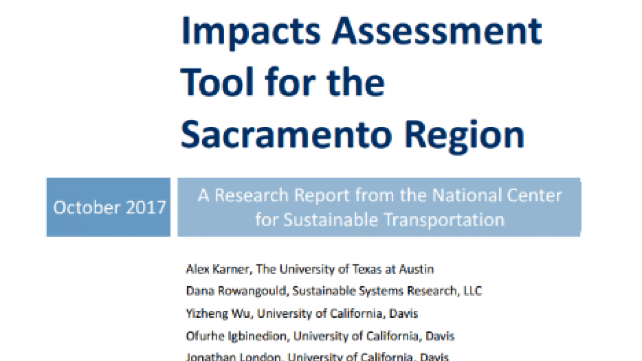 Development and Application of an Integrated Health Impacts Assessment Tool